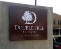 Double Tree by Hilton in Johor Bahru Signage 2014